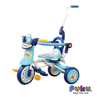 PUKU藍色企鵝 豪華型輔助三輪車(水色)