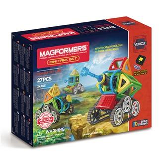 【Magformers 磁性建構片】Neon迷你坦克27pcs ACT06147