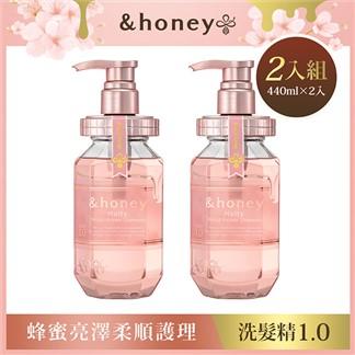 honey蜂蜜亮澤柔順護理洗髮精2入組(440mlx2入)