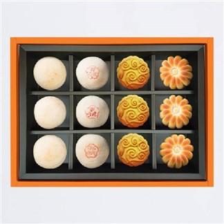 [陳允寶泉]四喜12入禮盒(小月餅3+御丹波3+桃山香柚3+和風綠豆3)