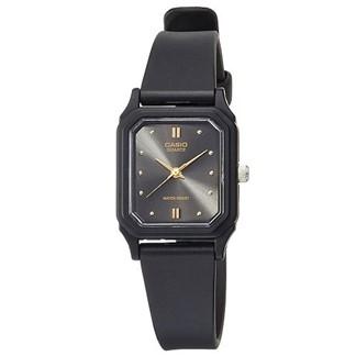 【CASIO】光澤薄型輕巧指針錶-黑面(LQ-142E-1A)