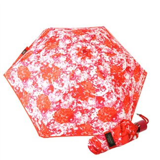 COACH 渲染圖騰輕量攜帶型晴雨傘(紅)