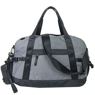 agnes b.蜥蜴尼龍托特旅行袋(附零錢包)(鐵灰)