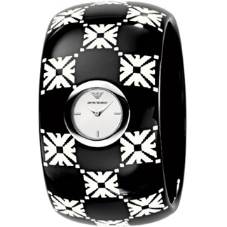 ARMANI LOGO 印記時尚手環女錶(圖騰)