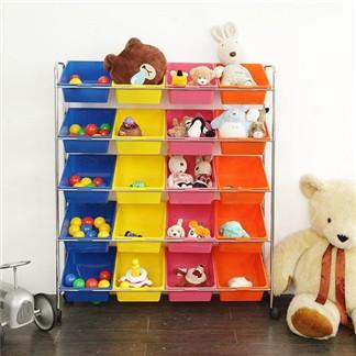 IKLOO宜酷屋_可移式20格玩具收納組