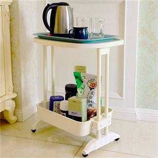 LIFECODE 《悠活》二層可移動茶水桌 筆電桌