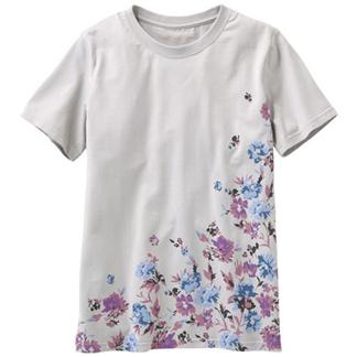 【CECILE】多彩純棉印花T恤-U(淺灰色)-女裝預購