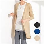 【CECILE】縱向編織長版針織衫-3色-女裝預購