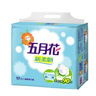【五月花】新柔韌抽取式衛生紙110抽*12包*6袋(箱購)