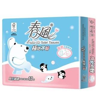 【春風】極地冰紛抽取式衛生紙 100抽*12包*6串
