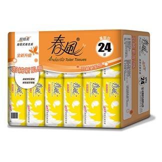 【春風】超細柔抽取式衛生紙110抽24包x3串