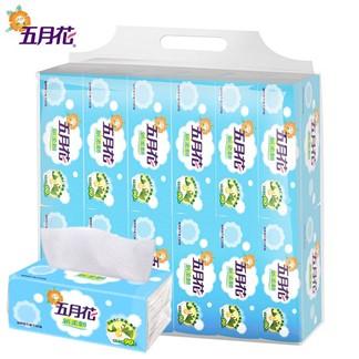 【五月花】加量版-新柔韌抽取式衛生紙130抽*12包*6袋(箱購)