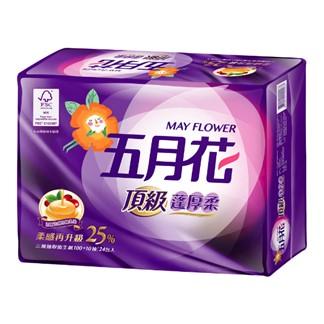 【五月花】頂級蓬厚柔三層抽取衛生紙110抽x24包x2袋-玫瑰果油