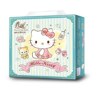 【春風】kitty湖水綠抽取式衛生紙100抽x10包x4串