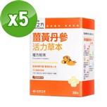 【台塑生醫】薑黃丹參活力草本複方粉末(30包)*5盒