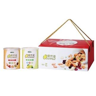 [統一生機] 果然優堅葡禮盒 (綜合堅果360g+葡萄乾400g)