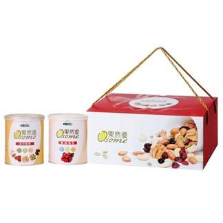[統一生機] 果然優堅蔓禮盒 (綜合堅果360g+蔓越莓乾360g)