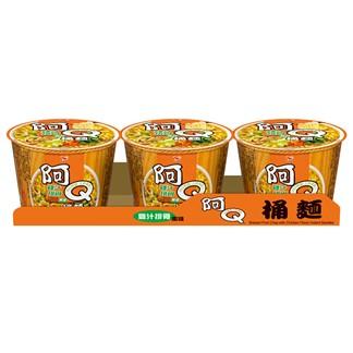 阿Q桶麵 雞汁排骨風味麵107g(3入組)