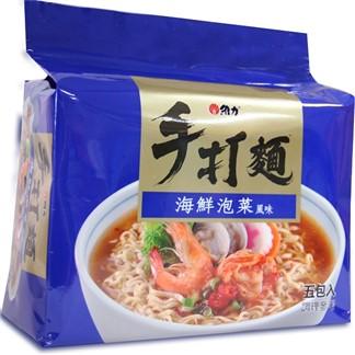 [維力]手打麵海鮮泡菜風味80g(5入)