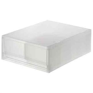 [MUJI 無印良品] PP盒/淺型/2格/附隔板(正反疊)