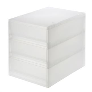 [MUJI 無印良品] PP盒/淺型/3段(正反疊)